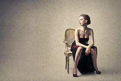 Beautiful elegant woman Royalty Free Stock Images