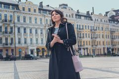 Beautiful elegant woman in the city. People Royalty Free Stock Images