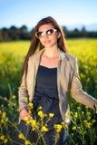 Beautiful elegant woman enjoying a day in nature. Stock Image