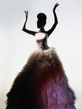 Beautiful elegant woman in luxury evening dress Stock Photo
