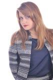 Beautiful elegant woman in office layout Stock Photo