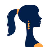 Beautiful  elegant woman silhouette. In vector format Stock Photo