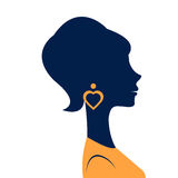 Beautiful  elegant woman silhouette. In vector format Royalty Free Stock Photo