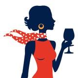 Beautiful  elegant woman silhouette Stock Photo