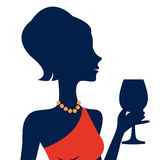 Beautiful  elegant woman silhouette. In vector format Stock Photos