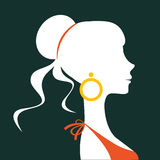Beautiful elegant woman silhouette. In vector format Stock Image