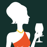Beautiful elegant woman silhouette. In vector format Stock Photography