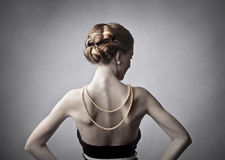 Beautiful elegant woman Stock Image