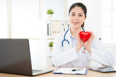 Beautiful elegant women rights cardiology doctor Royalty Free Stock Photography
