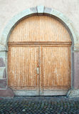 Beautiful elegant wooden door Royalty Free Stock Photography