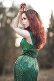 Beautiful, elegant young woman stock photos