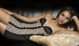 Beautiful elegant young woman in lingerie Royalty Free Stock Photography