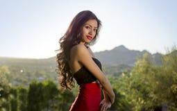 Beautiful elegant young woman royalty free stock image