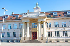 Beautiful elementary school in Zemun, Serbia. Landscape of the beautiful building of the elementary school in Zemun, Serbia. It was built in 1913, at the time of Royalty Free Stock Photos