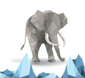 Beautiful elephant abstract geometric polygon vector Royalty Free Stock Photography