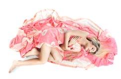 Beautiful elf lying on the floor Stock Photos