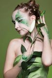 Beautiful elven girl Stock Image