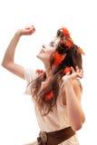 Beautiful elven girl Stock Images