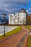 Beautiful embankment of the lake Verhnee. Kaliningrad (until 1946 Koenigsberg), Russia Stock Photo