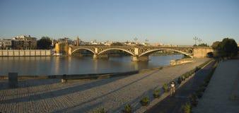 Beautiful embankment in Seville Stock Photo