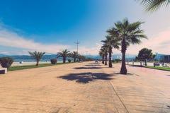 Beautiful embankment for walking and sport in Batumi Georgia. To Royalty Free Stock Photos
