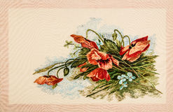 Beautiful embroidered pattern, handmade Stock Photo
