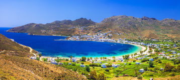 Beautiful emerald beaches of Greece royalty free stock photography