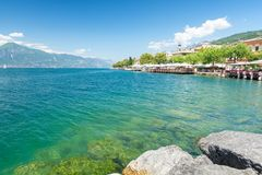 Amazing Lake Garda in north Italy stock photo