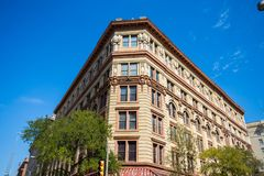 Beautiful Emily Morgan Building in Downtown San Antonio, Texas n. Ext to the Alamo stock images