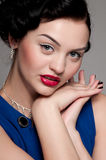 Beautiful emotional glamour woman. Vogue Royalty Free Stock Image