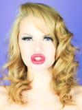 Beautiful emotional lady Royalty Free Stock Images