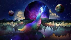 The Wolf Among Stars Wallpaper Stock Illustration Illustration Of Site Wallpaper 109634906