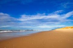 Beautiful Empty Beach. And blue sky Stock Photos