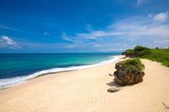 A beautiful empty beach in bali Royalty Free Stock Photos