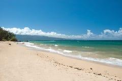 Beautiful empty beach on Hawaii. View of the beautiful empty beach on Hawaii Royalty Free Stock Photo