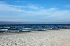 Beautiful empty beach in Jastarnia, Poland Stock Photo