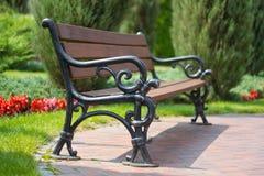 Beautiful empty bench Royalty Free Stock Photos