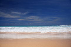 Beautiful, Empty Caribbean Beach Royalty Free Stock Photography