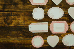 Beautiful empty gift cards with different shapes Stock Photography
