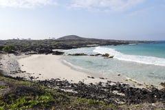 Beautiful empty sand beach - romantic destination Royalty Free Stock Photography