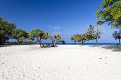 Beautiful empty sand beach - romantic destination Royalty Free Stock Image