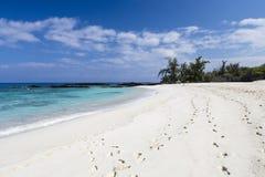 Beautiful empty sand beach - romantic destination Stock Photos
