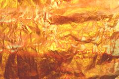 Beautiful emty golden watercolor background, crumpled paper texture. For your design royalty free stock photography