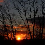 A beautiful end. Sunset , sky scenery Royalty Free Stock Photography