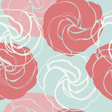 Beautiful endless pattern with cute roses Royalty Free Stock Image