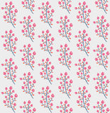 Cute seamless pattern with berries. Vector illustration. Beautiful endless pattern with flowers Royalty Free Stock Image