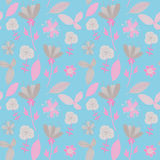 Colorful floral seamless pattern. Vector illustration. Beautiful endless pattern in soft colors for your design Stock Photo