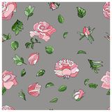 Beautiful endless rose Pattern in Vector. vector illustration