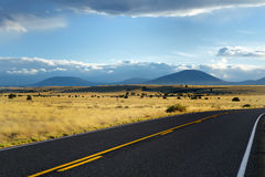 Beautiful endless wavy road in Arizona desert Royalty Free Stock Photography