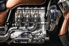 Engine of a Motorbike royalty free stock image